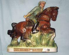 Vintage 1969 Rebel Yell Kentucky Bourbon Whiskey Decanter Bottle  On Sale at OldBallo