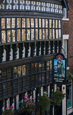 Bear and Billet Pub on Bridge Street, Chester, England