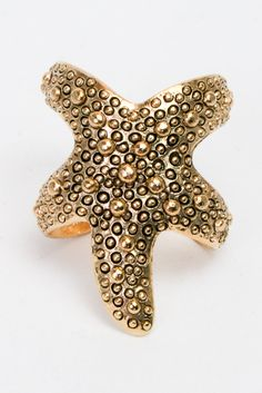 Starfish Cuff Ring from Ava Adorn