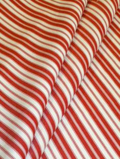 Outdoor Furniture and Cushion Fabric by the yard, Ticking Stripe Color Crimson and White, textured woven acrylic see at http://store.schindlersfabrics.com/oufuandcufab1.html  #outdoorfabric #indooroutdoor #indooroutdoorfabric #outdoorupholsteryfabric