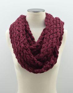 Wine Infinity Scarf by Lovoda on Etsy https://www.etsy.com/listing/206686998/wine-infinity-scarf