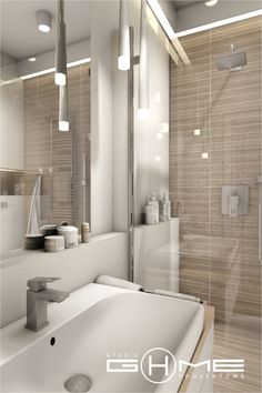 Project in Warsaw residential Central Park Ursynów on Behance Next Bathroom, Laundry In Bathroom, Bathroom Design Small, Bathroom Interior Design, Modern Minimalist, Minimalist Design, Bathroom Renovations, Modern House Design, Central Park