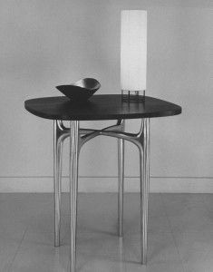 Donald Deskey,  a pioneer in the field of Industrial design. In Paris he attended the 1925 Exposition Internationale des Arts Décoratifs et Industriels Modernes, which influenced his approach to design. He established a design consulting firm in New York City, and later the firm of Deskey-Vollmer which specialized in furniture and textile design. His designs in this era progress from Art Deco to Streamline Moderne.
