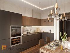 Фото дизайн кухни из проекта «Дизайн трехкомнатной квартиры 84 кв.м. в современном стиле, ЖК «Резиденс»»