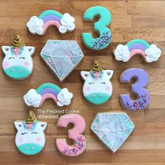 Unicorn cookies || unicorn party