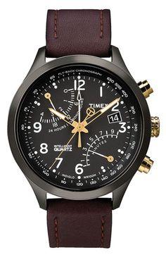 Timex® 'Intelligent Quartz' Fly-Back Chronograph Watch