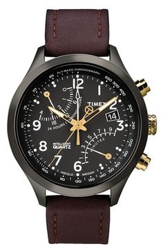 Timex® 'Intelligent Quartz' Fly-Back Chronograph Watch