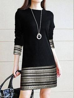 Round Neck Printed Daily Shift Dress , formal dresses maxi dresses womens dresses summer dresses party dresses long dresses casual dresses dresses for wedding , # Casual Dresses For Women, Clothes For Women, Elegant Dresses, Dress Casual, Formal Dresses, Casual Outfits, Wedding Dresses, Romantic Dresses, Vestido Casual