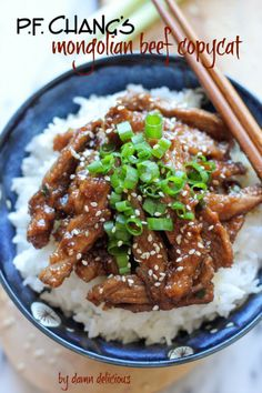 PF Chang's Mongolian Beef Copycat by Damn Delicious - This is DELICIOUS! --- substitute the Soy Sauce with Tamari and it is GF. Big winner in our house!