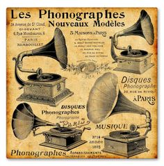 1908 French phonograph advertisement