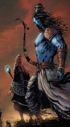 Rama (from Ramayan I think) Shri Ram Wallpaper, Warriors Wallpaper, Lord Shiva Hd Wallpaper, Wings Wallpaper, Photos Of Lord Shiva, Lord Shiva Hd Images, Ganesh Images, Shiva Art, Hindu Art