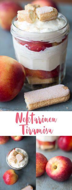 Nektarinen Tiramisu - leckeres Dessert im Sommer - Nachtisch Rezeptideen #nektarinen #tiramisu #rezepte