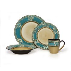 Blue Dinnerware Set 64 Piece Service for 16 Pfaltzgraff. I love Pflatzgraff. | Happy Endings | Pinterest | Dinnerware Dinner ware and Tablewares  sc 1 st  Pinterest & Blue Dinnerware Set 64 Piece Service for 16 Pfaltzgraff. I love ...
