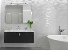 White bathroom pattern