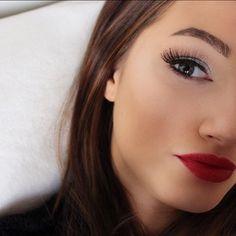 """11 gilla-markeringar, 2 kommentarer - M A N D A B J E (@mandabje) på Instagram: """"Using: Lipstick: Isadora, 05 femme fatale! 💄 Lashes: Ardell, glamour! Eyebrows: Maybelline, Brow…"""""""