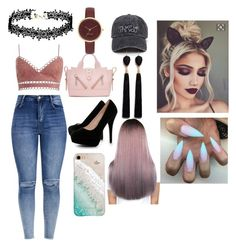 A fashion look from October 2017 featuring white shirt, high waisted ripped jeans and black platform shoes. Browse and shop related looks. Black Platform, Platform Pumps, Crop Swim Top, High Waisted Distressed Jeans, Kenzo, Nine West, Boohoo, Fashion Looks, Queen