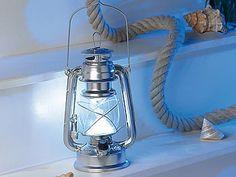 """Lunartec Dimmbare LED-Sturmlampe """"Ocean"""" in Öl-Lampen-Design, 42 lm, 1,5 W"""