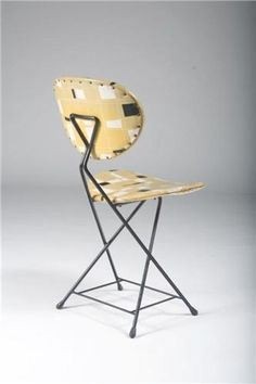 Rob Parry; Enameled Metal Folding Chair 1950s.