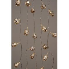 Silver Maroq LED Fairy String Lights Battery Operated