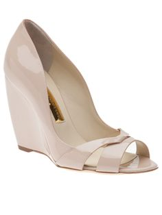 BEAUTY nude patent wedge! LUST!!!