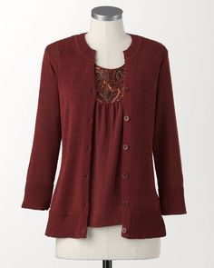 """EveryWear? cardigan - I have deep and abiding love for sweater sets. Not really sure why but since I am of """"a certain age"""" I find clothing that can shed layers and still look good to be very important."""