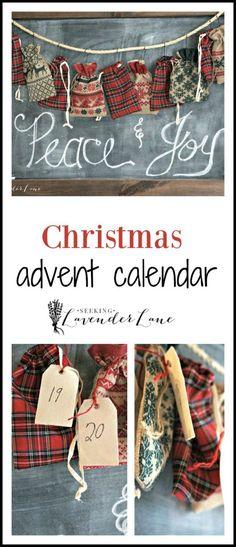 Advent calendar collage