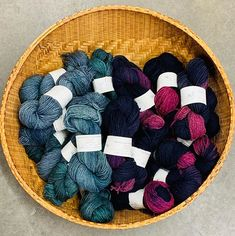 The popular BlueSpruce and HotPinkBlue yarn 🧶 is back in stock. Hand Dyed Yarn, Pot Holders, Fiber, Popular, Studio, Knitting, Potholders, Tricot, Most Popular