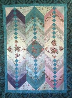 Jelly Roll French Braid Quilt Pattern. $9.00, via Etsy.