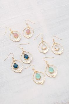 Ideal Boho earrings in different colours gold plated by fleuriscoeur