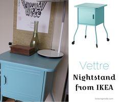 vintage modern metal Vettre nightstand IKEA