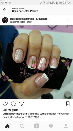 Imagen de decorados Gorgeous Nails, Love Nails, Pretty Nails, Cute Pedicure Designs, Fall Nail Designs, Nail Spa, Manicure And Pedicure, Dimond Nails, Pink Nail Art