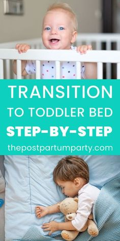 Learn how to transition your child to a toddler bed when the time is right. When you're prepared with these tips and tricks, making the transition from a crib to a toddler bed can be easier than you think! Baby On The Way, Mom And Baby, Summer Activities For Kids, Toddler Activities, Toddler Sleep Training, Sleep Training Methods, Baby Feeding Schedule, Minimalist Baby, Toddler Age