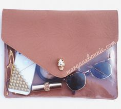 Love this Transparent Clear Clutch
