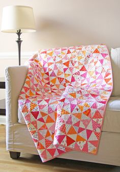 Allow me to introduce my first finished w. of This Kaleidoscope quilt has been sitting for a year waiting for some attention. It started with a request to my bee mates in the That Stash Bee Pink Quilts, Cute Quilts, Girls Quilts, Scrappy Quilts, Baby Quilts, Winding Ways Quilt, Orange Quilt, Kaleidoscope Quilt, Quilt Modernen