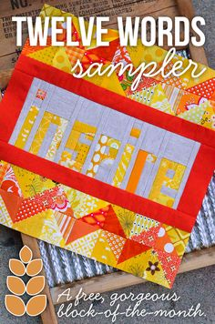 Block #4 of Twelve Words Block of the Month: April Inspire. Free Block of the Month!