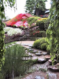 Stepping stones as stairs | 10 Elements of a Zen Japanese Garden