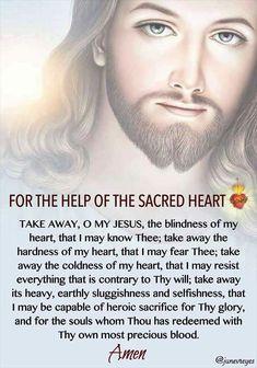 Prayer to the Sacred Heart of Jesus. Prayer Scriptures, Bible Prayers, Faith Prayer, God Prayer, Catholic Prayers, Prayer Quotes, Power Of Prayer, Spiritual Prayers, Prayers For Healing