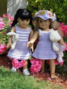 Garden Party Downloadable Crochet Pattern For Any 18 Inch Doll Including…