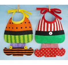 Witch & ELf Bibs.  These make me smile.  =)
