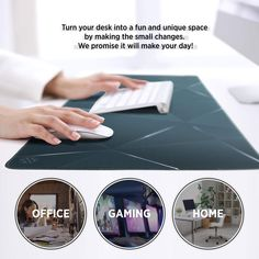 XXL Extended Desk Mouse Pad -Black Chic