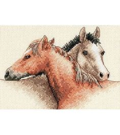 Dimensions Horse Pals Mini Counted Cross Stitch Kit