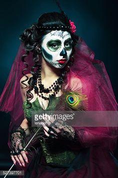 Halloween Make Up Sugar Skull Stock Photo | Getty Images