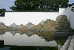 Suzhou Museum's rock landscape by I.M. Pei