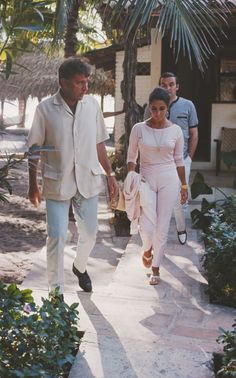 Richard Burton and Elizabeth Taylor in Puerto Vallarta