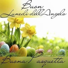 Buon Lunedì dell'Angelo immagini - BuongiornissimoCaffe.it Italian Memes, Leaf Crafts, Happy Easter, Good Morning, Place Card Holders, Holiday, Plants, Pictures, Angelo