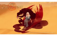 Game of Thrones reimagined as a Disney movie : Daeynerys Targaryen (by Anderson Mahanski & Fernando Mendonça)
