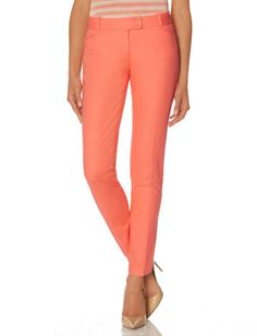Cotton Button Tab Pencil Pants from THELIMITED.com