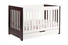 Amazon.com: Babyletto Mercer 3 in 1 Convertible Crib with Toddler Rail, Two Tone: Baby