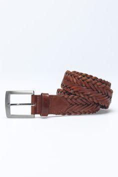 Leather Plait Belt