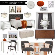 Dani Ellet | #CopycatChicRoomDesign | A Modern Mix Master Bedroom for under $5500